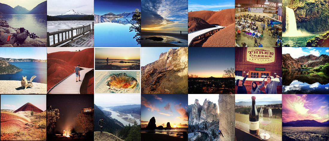 Integrated Instagram grids, or Instagrids