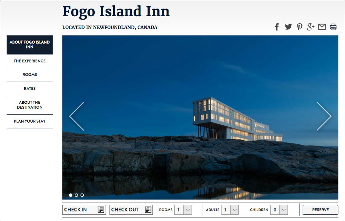Welcome to Fogo Island Inn