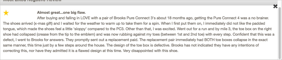 "The ""Most Liked Negative Review"" for the PureConnect 4s."
